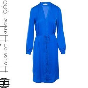House Of Harlow 1960 Royal Blue Silk Dress